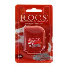 Гигиена Rocs - ROCS РОКС Крученая расширяющаяся зубная нить Red Edition, 40 м