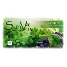 Перчатки медицинские нитриловые SunViv Санвив фиолетовые 200шт.