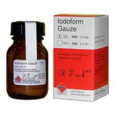Лечебные препараты - Iodoforme gauze Иодоформный бинт (Турунда) 5м х 20мм 5% PD