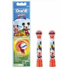 Электрические зубные щетки Oral-B - Комплект насадок для детской электрической зубной щетки Oral B Stages Kids Микки Маус (2 шт.)