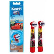 Электрические зубные щетки Oral-B - Комплект насадок для зубной щетки Орал Би электрической детской Oral B Stages Kids Тачки (2 шт.)