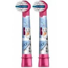 Электрические зубные щетки Oral-B - Комплект насадок для электрической детской зубной щетки Oral B Stages Kids Frozen Холодное сердце (2 шт.)