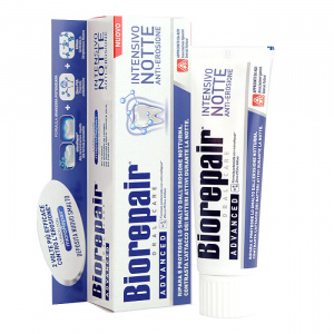 Зубная паста Biorepair для использования перед сном Intensive night repair