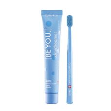 Зубные щетки Curaprox - Набор Curaprox Be You Blue set (Зубная паста Мечтатель (ежевика и лакрица) + Зубная щетка CS5460)