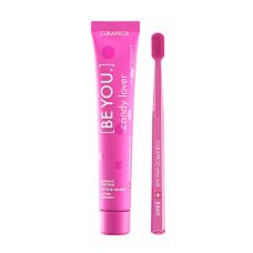 Зубные пасты Curaprox - Набор Curaprox Be You Pink set (Зубная паста Любитель конфет (арбуз) + Зубная щетка CS5460)