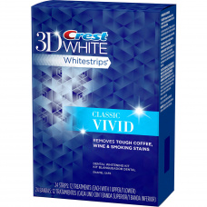 Домашнее отбеливание зубов - Отбеливающие полоски Crest 3D White Whitestrips Vivid (20 шт)