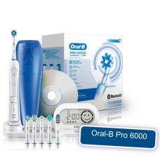 Электрические зубные щетки Oral-B - Электрическая зубная щетка Braun Oral-B Pro 6000 Bluetooth D36.575 (Орал Би Браун Про 6000)