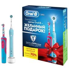 Электрические зубные щетки Oral-B - Электрическая зубная щетка Орал Би (набор) Oral-B Pro 500 + Vitality Frozen
