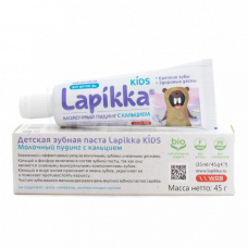 Детские зубные пасты и гели - ROCS (РОКС) Зубная паста Lapikka Kids (для детей 3+) Лапикка Кидс с кальцием, 45 гр