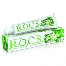 Зубные пасты Rocs - ROCS (РОКС) Зубная паста Двойная Мята, 74 гр