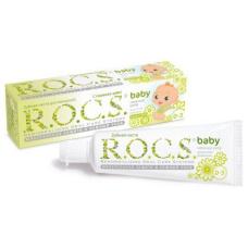 Детские зубные пасты и гели - ROCS РОКС Зубная паста Baby Бэйби. Нежный уход (для детей от 0 до 3 лет), 45 гр