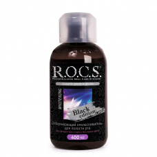 Ополаскиватели Rocs - ROCS РОКС Ополаскиватель отбеливающий Black Edition Блэк Эдишн, 400 мл