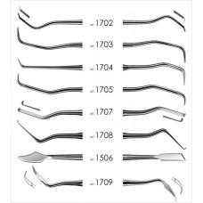 Инструменты - Набор для снятия зубных отложений 8 инстр.(1506,1702,1703,1704,1705,1707,1708,1709) 1700 FABRI ФАБРИ