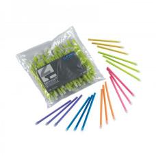 Наконечники для слюноотсосов 100 шт., зеленые, лиловые, синие, Италия Euronda Евронда